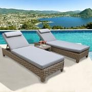 Bayou Breeze Galen 3 Piece Chaise Lounge w/ Cushion