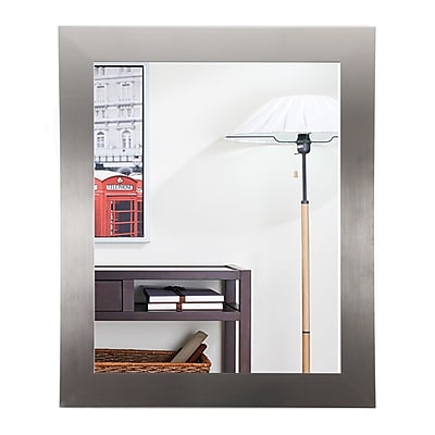 BrandtWorksLLC Silver Designer Entry Way Wall Mirror;