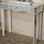 Heather Ann Elizabeth Mirrored Console Table; Antique White