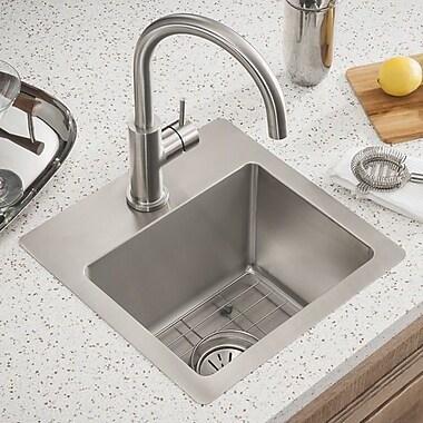 Elkay Crosstown 15'' x 15'' Undermount Kitchen Sink; 1