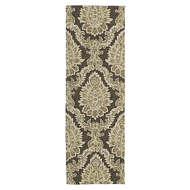 Charlton Home Manning Cedar Hamock Brown Floral and plants Indoor/Outdoor Area Rug