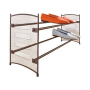 Lynk Expandable and Stackable 2-Tier Shoe Rack; Bronze
