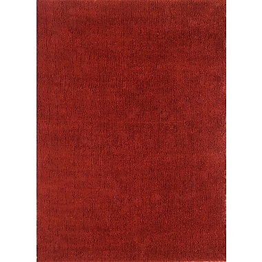 Continental Rug Company Cloud Cranberry Shag Area Rug; 3' x 5'
