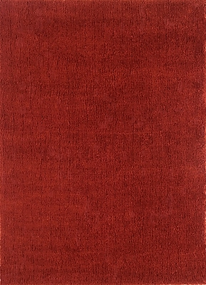 Continental Rug Company Cloud Cranberry Shag Area Rug; Round 5'