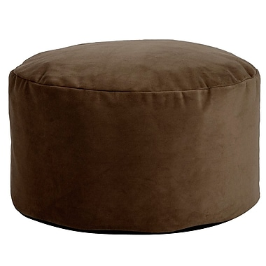 George Oliver Fairfax Foot Pouf Bella Ottoman; Chocolate