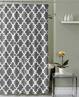 Ruthy's Textile Shower Curtain; Gray