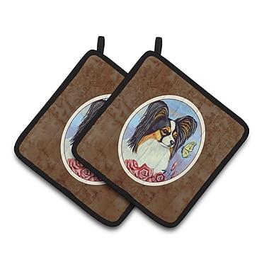 Caroline's Treasures Papillon Butterfly Potholder (Set of 2)