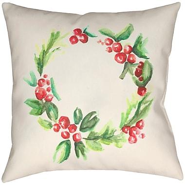 Artistic Weavers Lodge Cabin Throw Pillow; 16'' H x 16'' W x 3'' D