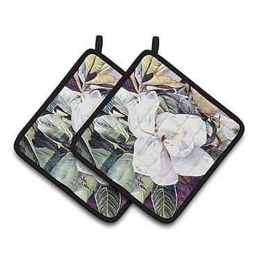 Caroline's Treasures Flower - Magnolia Potholder (Set of 2)