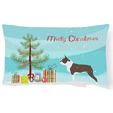 The Holiday Aisle Boston Terrier Indoor/Outdoor Lumbar Pillow