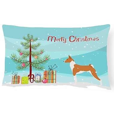 The Holiday Aisle Basenji Indoor/Outdoor Lumbar Pillow