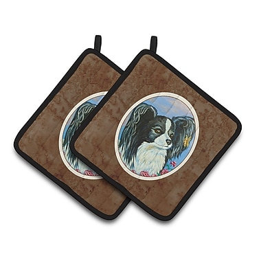Caroline's Treasures Papillon Potholder (Set of 2)