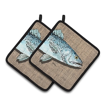 Caroline's Treasures Fish Speckled Trout Potholder (Set of 2)