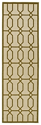 Charlton Home Covedale Hand-Woven Brown Indoor/Outdoor Area Rug; Runner 2'6'' x 7'10''