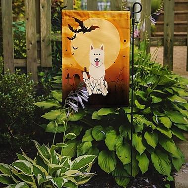 Caroline's Treasures Halloween White German Shepherd 2-Sided Garden Flag