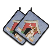 Caroline's Treasures Dog House Brittany Spaniel Potholder (Set of 2)