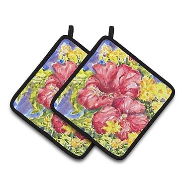 Caroline's Treasures Flower - Hibiscus Potholder (Set of 2)