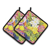 Caroline's Treasures Flower - Primroses Potholder (Set of 2)