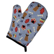 Caroline's Treasures Dog House Brindle Boxer Oven Mitt