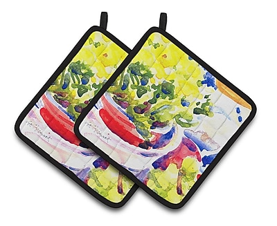 Caroline's Treasures Flower Potholder (Set of 2)