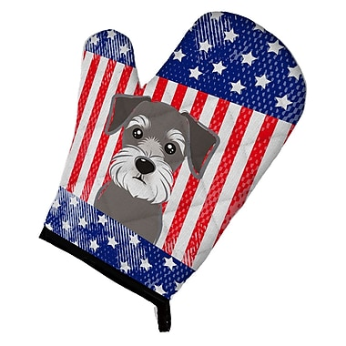 Caroline's Treasures American Flag and Schnauzer Oven Mitt