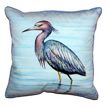 Betsy Drake Interiors Little Heron Indoor/Outdoor Throw Pillow; Extra Large