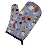 Caroline's Treasures Dog House Basset Hound Oven Mitt