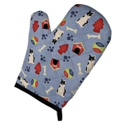 Caroline's Treasures Dog House Russo European Laika Spitz Oven Mitt