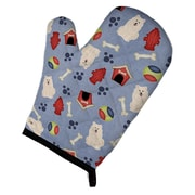 Caroline's Treasures Dog House Samoyed Oven Mitt