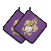 Caroline's Treasures Tiger Fleur De Lis Baseball Potholder (Set of 2)