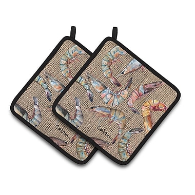 Caroline's Treasures Shrimp Potholder (Set of 2)