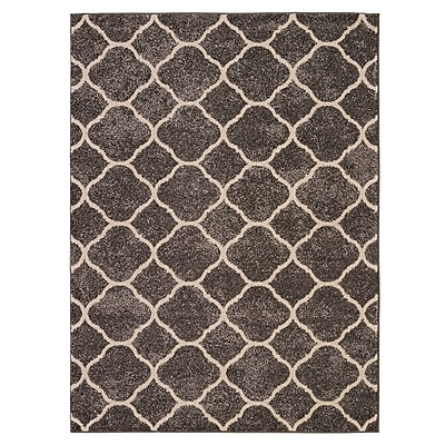 Everly Quinn Attah Dark Gray Area Rug