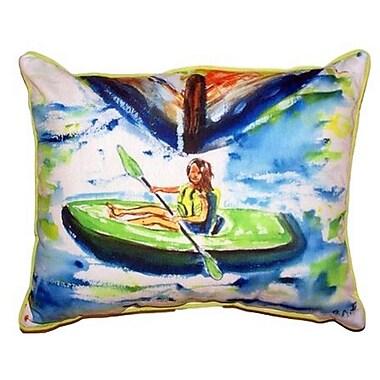 Betsy Drake Interiors Eva Outdoor Lumbar Pillow; Large