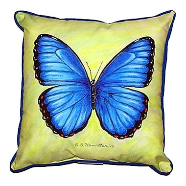 Betsy Drake Interiors Morpho Outdoor Throw Pillow; Large