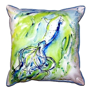 Betsy Drake Interiors Calamari Outdoor Throw Pillow; Small