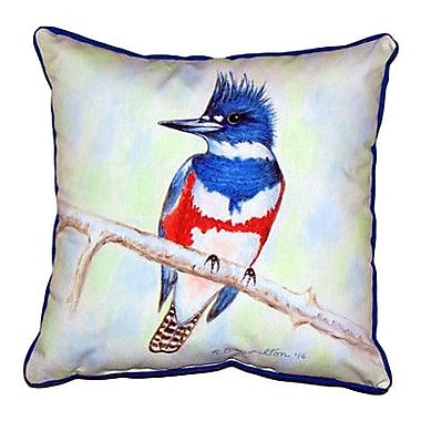 Betsy Drake Interiors Kingfisher Outdoor Throw Pillow; Extra Large