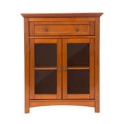 Glitzhome Wooden Shelved Floor Storage Cabinet