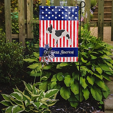 Caroline's Treasures Patriotic USA French Bulldog 2-Sided Garden Flag