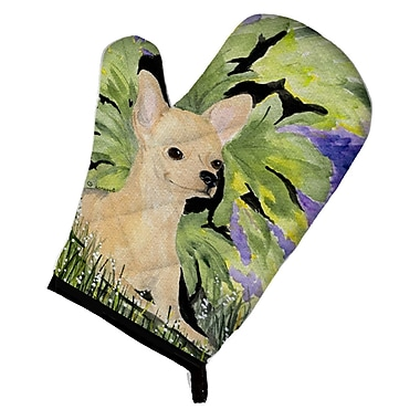 East Urban Home Chihuahua Green/Beige Oven Mitt