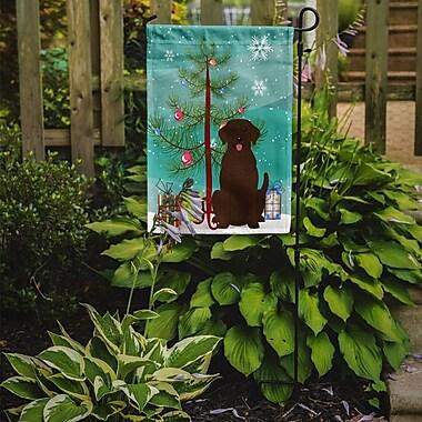 Caroline's Treasures Merry Christmas Tree Labrador 2-Sided Garden Flag