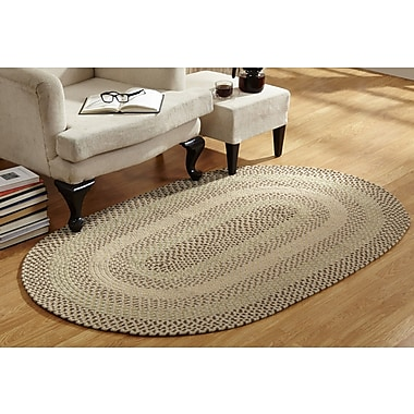August Grove Monnie Braided Natural Area Rug; Runner 2' x 9'
