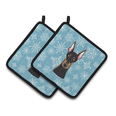 Caroline's Treasures Snowflake Doberman Potholder (Set of 2)