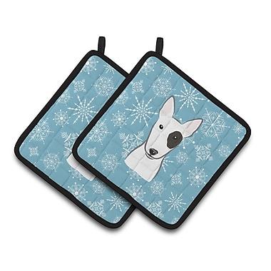 Caroline's Treasures Snowflake Bull Terrier Potholder (Set of 2)