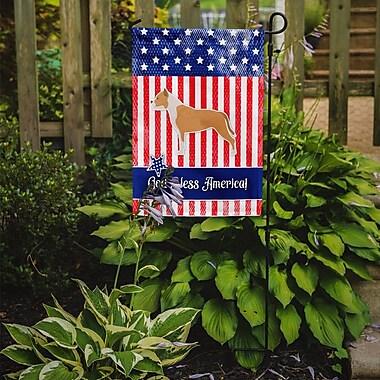 Caroline's Treasures Patriotic USA Staffordshire Bull Terrier 2-Sided Garden Flag