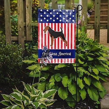 Caroline's Treasures Patriotic USA Airedale Terrier 2-Sided Garden Flag