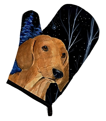 Caroline's Treasures Starry Night Dachshund Oven Mitt