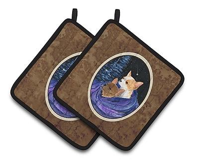 Caroline's Treasures Starry Night Chihuahua Potholder (Set of 2)