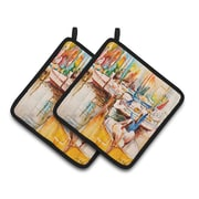 Caroline's Treasures Pelicans and Sailboats Potholder (Set of 2)