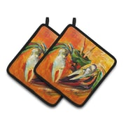 Caroline's Treasures Small Crab Potholder (Set of 2)