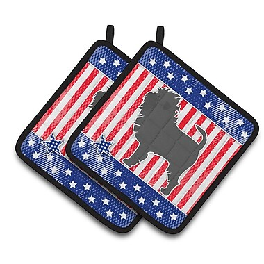 Caroline's Treasures Patriotic USA Affenpinscher Potholder (Set of 2)